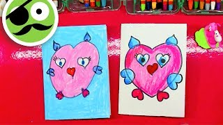 Owl in Love / How to Draw a Owl
