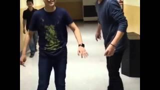 Darren Espanto and  Juan Karlos  (kulit moment)