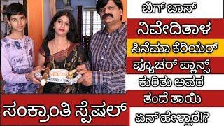 Niveditha's parents reaction towards cinema carrier  ನಿವೇದಿತ ಸಿನೆಮಾ ಕೆರಿಯರ್ ಕುರಿತು ತಂದೆ ಏನ್ ಹೇಳ್ತಾರೆ