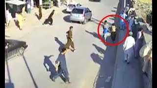 CCTV footage of suicide bomber in Parachinar