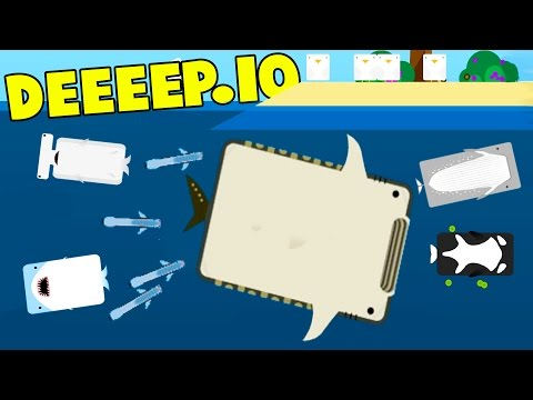 Deeeep.io - THE MOST OVER POWERED FISH! The Whale Shark! - New Animals! - Deeeep.io Gameplay