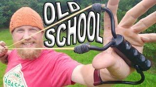 Wrist Rocket Slingshot,  Old School Trick Shots (TST Ep. #14) Daisy , Marksman Wrist Rocket