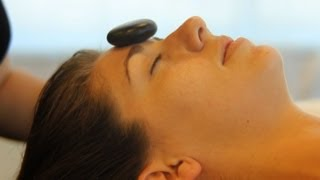 How to Place Stones for Facial Massage   Hot Stone Massage