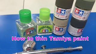 Thinning and using Tamiya paint and cement, This video will save you time and trouble.
