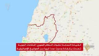 تصعيد عسكري إسرائيلي إيراني في سوريا