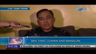 Gen. Tinio, humarap sa PNP