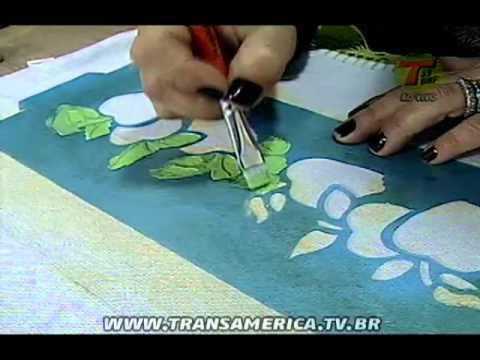 Tv Transamérica Pintura em tecido com stencil