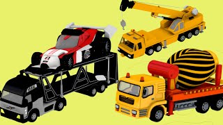 construction and machinery with Crane, hydra, truck for children | Surprise eggs by Jugnu Kids