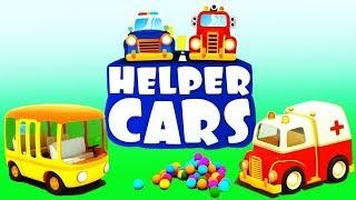 Helper Cars. Cartoon for kids with cars & trucks.