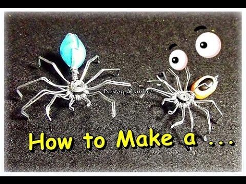 Como Hacer una Araña en Alambre How to Make a Wire Spider By Puntoy Alambre