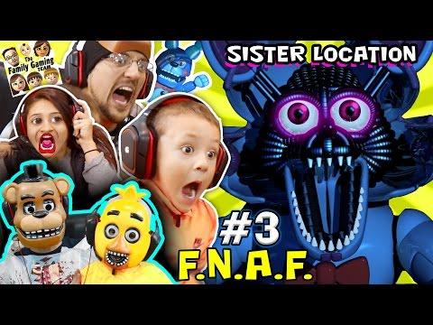 WHO NAMES THEIR SON FOXY FNAF SISTER LOCATION 3 w Chica & Freddy FGTEEV Fun Times SCARY Gameplay