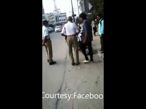 Misbehaviour by traffic police