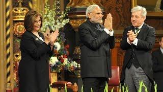 PM Modi at the British parliament in London, United Kingdom