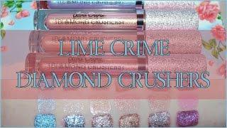 Lime Crime - Diamond Crushers! Full Bundle Swatch!