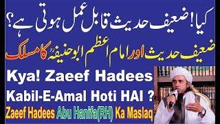 kya! zaeef HADEES pe Aamal Kiya Jasakta ? क्या ! जईफ हदीस पे आमल किया जासकता ? मुफ़्ती तारिक मसूद