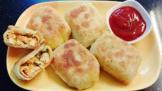 Chicken Pocket Roll   Chicken Pocket Roll in hindi by Farheen Khan   Hot n Spicy Indian Style