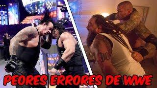 5 PEORES ERRORES DE WWE