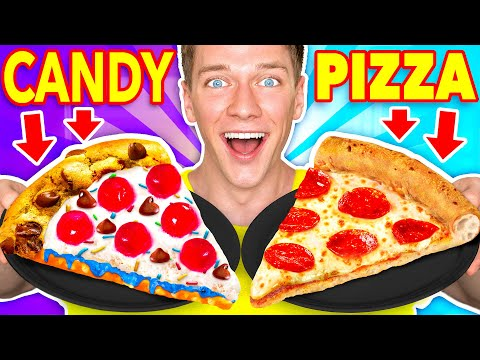 Making FOOD Out Of CANDY Learn How To Make DIY Edible Candy vs Real Food McDonalds Challenge