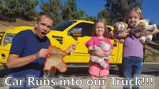 Game Master Top Secret Treasure Hunt Gone Wrong!! (Car Accident) Rollie Pups Save the Day!