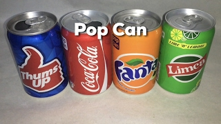 Pop Can Thums Up Coke Fanta Limca