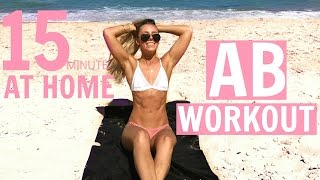 15min AB WORKOUT | At Home Ab Shredder WORKOUT WITH ME