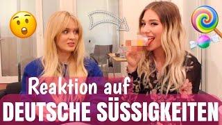 Ihre REAKTION - 1. Mal deutsche Süßigkeiten mit ZARA LARSSON 😧   BibisBeautyPalace