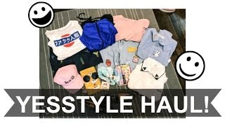 YESSTYLE HAUL & TRY ON!
