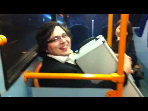 Man gets stuck in bus seat
