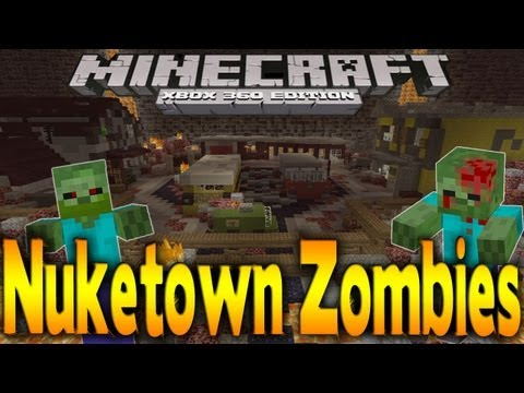 Minecraft Xbox 360 Black Ops 2 NUKETOWN ZOMBIES Remake MAP DOWNLOAD