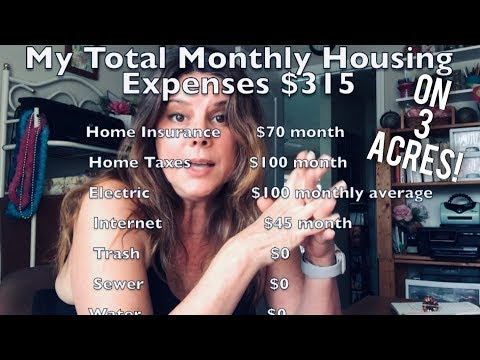 HOW I LIVE ON $315 A MONTH ON 3 ACRES ?