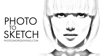 Photoshop PHOTO to PENCIL SKETCH Effect