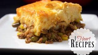 Dinner Recipes | Homemade Shepherds Pie - easy recipe with tasty beef & chicken - I Heart Recipes