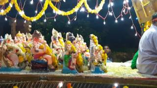 Goa ganesh visarjan at kumbharjua river!