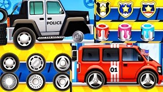 Car Factory - Police Car | CAR WASH - Builds Fire Truck for Kids| Videos For Children| iOS Apps Kids