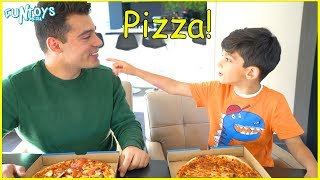 Jason orders Pizza for Delivery! Funny Kids video by FunToysMedia