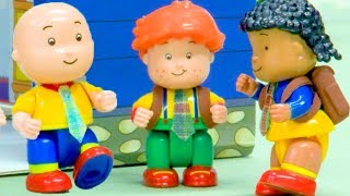 🎒 CAILLOU GOES BACK TO SCHOOL 🚌   Funny Animated cartoons Kids   Caillou Stop Motion