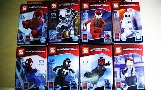 Lego Marvel Superheroes Spiderman Sheng Yuan Bootleg Review knock off