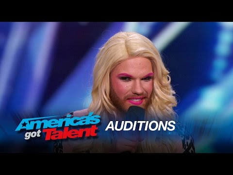 Scott Heierman: Bearded Drag Queen Comedian Rules the Stage - America's Got Talent 2015