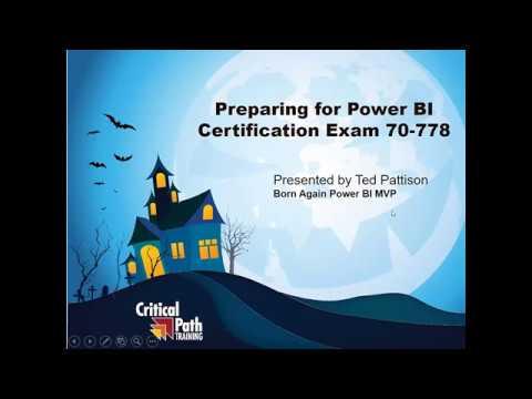 Preparing for Power BI Certification Exam 70-778: Level 1