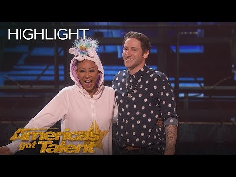 Samuel Comroe Judges Mel B As She Fails Epically At Stand-Up Comedy - America's Got Talent 2018