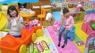 Hello Kitty サンリオキャラクター パッとひろがる!お店屋さんごっこ こうくんねみちゃん Shop Cafe