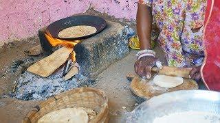 Indian Village Food Cooking.Roti,Chapati | Rajasthani Village Life | Rajastani people