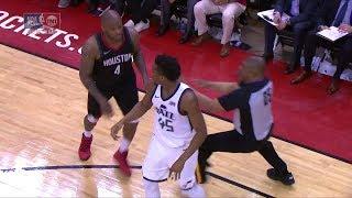 Donovan Mitchell & PJ Tucker Fight for the Ball | Jazz vs Rockets - Game 2 | 2018 NBA Playoffs