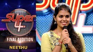 Super 4 I Neethu-Final Audition I Mazhavil Manorama