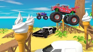 MONSTER TRUCK RACE !