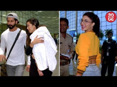 Shahid Leaves For His Vacation With Mira & Misha | Karan, Malaika, Jacqueline Spotted At The Airport