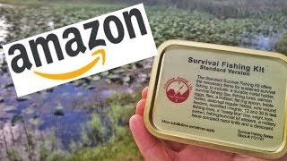 $20 AMAZON Fishing Survival Kit Challenge! Can This Actually Save Your Life?