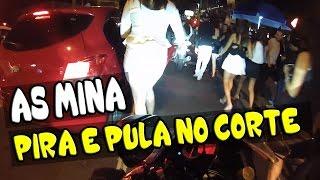 QUE SUSTO ELA PIRA E PULA NO O CORTE DE GIRO DA MOTO