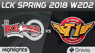 KT vs SKT Highlights Game 1 LCK Spring 2018 W2D2 KT Rolster vs SK Telecom T1 by Onivia