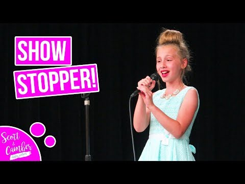 """9 YEAR OLD STUNS CROWD WITH """"NEVER ENOUGH"""" AT SCHOOL TALENT SHOW...BEAUTIFUL!!"""